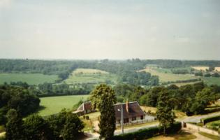 Vue aérienne de Campigny